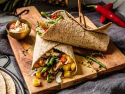 Grove og smakfulle vegetarwraps