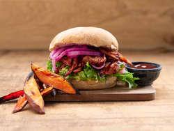 Vegetar pulled burger