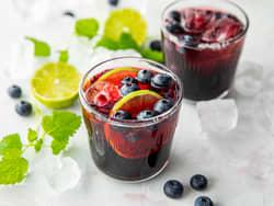 Limonade med blåbær