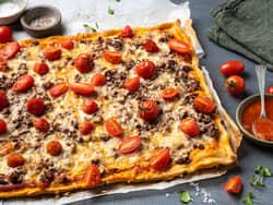 Enkel pizza med tomat