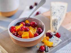 Appelsin- og tranebærmarmelade
