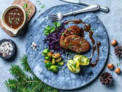 Italiensk vegetarbiff med julesaus
