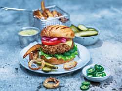 Vegetarburger med smak av BBQ