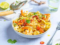 Pasta med Happy Prawns
