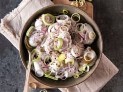 Potetsalat med sennep og creme fraiche