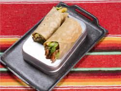Taco med svinekjøtt og ananas