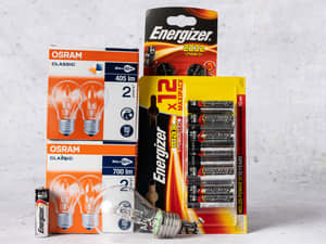 Lyspærer og batterier