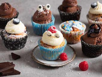 Saftige muffins med ostekrem