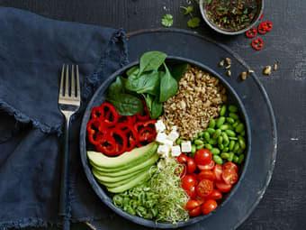 Vegetarisk bowl med superris