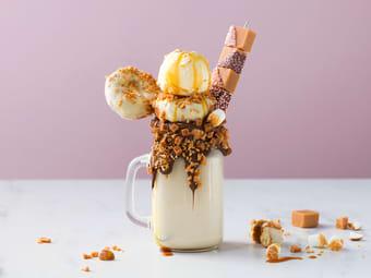 Milkshake med karamell