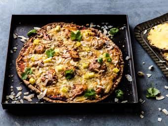 Fullkornspizza med kylling og ananas