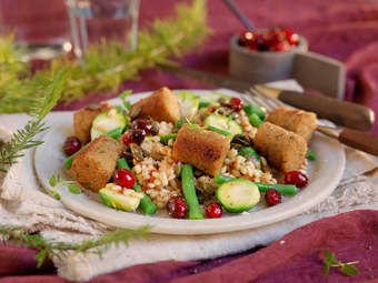 Falafel med julens grønnsaker