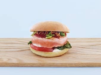 BBQ lakseburger