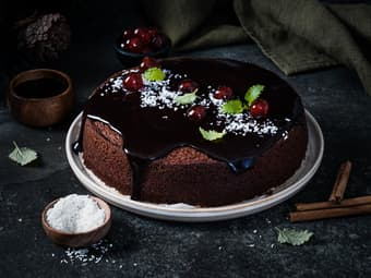 Saftig sjokoladekake med Coca-Cola
