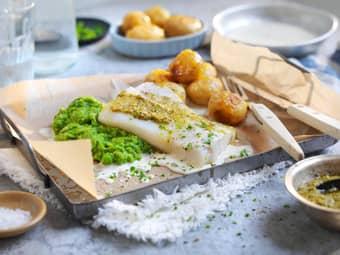 Torskefilet med ovnsbakte poteter