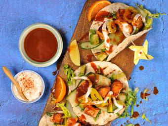 Fisketaco med laks og avokado