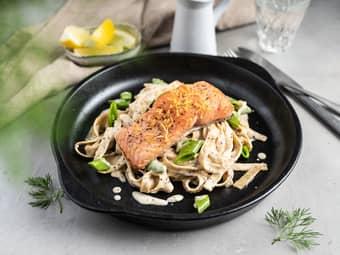 Kremet  pasta med ørret