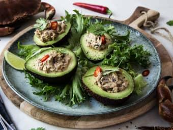 Krabbesalat i avokado