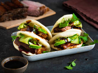 Steam buns med hoisin ribbe