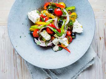 Gresk salat med paprika