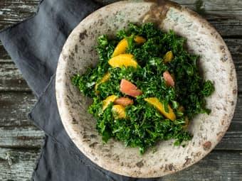 Grønnkålsalat med sitrus