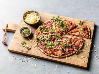Eltefri pizza med spekeskinke
