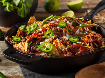 Loaded nachos med pulled pork