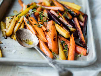 Stekte gulrøtter
