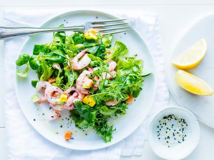 Rekesalat med avokado og mango