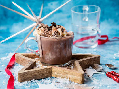 Enkel dessert med kakao og iskrem