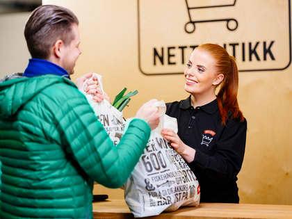 Spørsmål om henting av varer i butikk