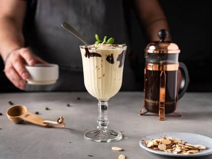 Kaffeshake med vaniljeis