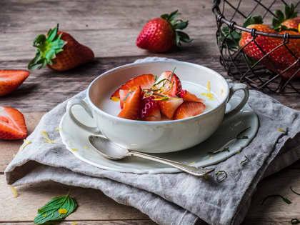 Panna cotta med jordbær