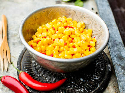 Mais og chilisalsa