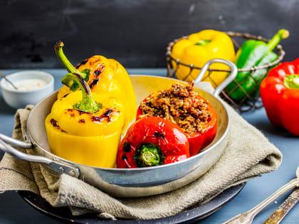 Fylt paprika med ris