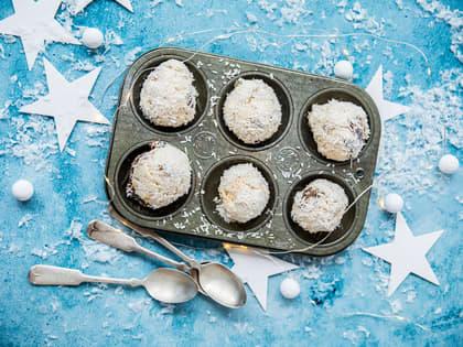 Iskrem-snøballer med kokos