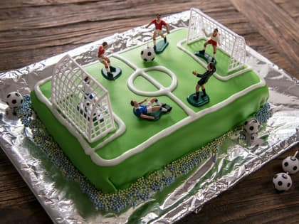 Fotballbane sjokoladekake