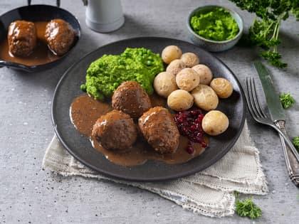 Klassiske kjøttkaker i brun saus