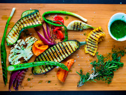 Slik griller du grønnsaker