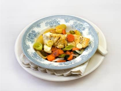 Seilfilet med grønnsaker