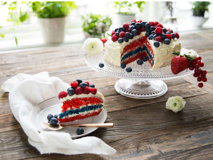 17. mai kake i flaggets farger
