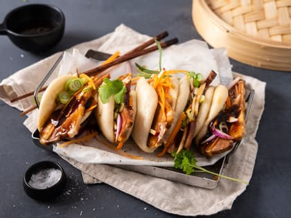 Steamed buns med ribbe