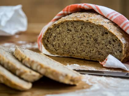 Eltefritt grovbrød med kli og kjerner