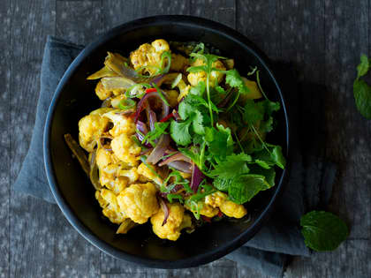 Vegetarisk red curry med blomkål