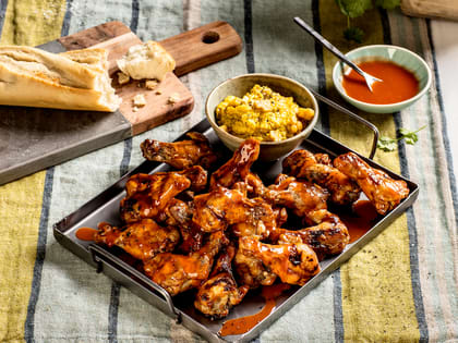 Kyllingklubber med BBQ saus og maisstuing