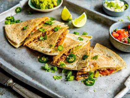 Kjøttfri quesadillas med vegetardeig