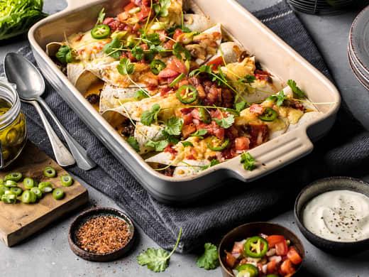 Enchiladas med kjøttdeig