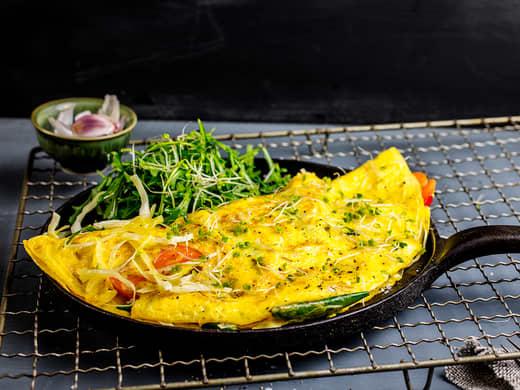 Omelett med stekt ris