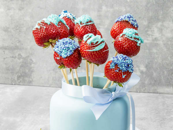 Blå jordbærpops
