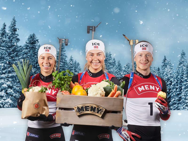 MENY er Stolt sponsor av skiskytterne